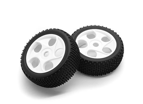 HobbyKing 1/8 Scale K Spec Star Spoke Wheel/ Tire 17mm Hex (White)