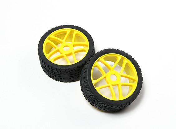 HobbyKing® 1/8 Star Yellow Wheel & On-road Tire 17mm Hex (2pc)