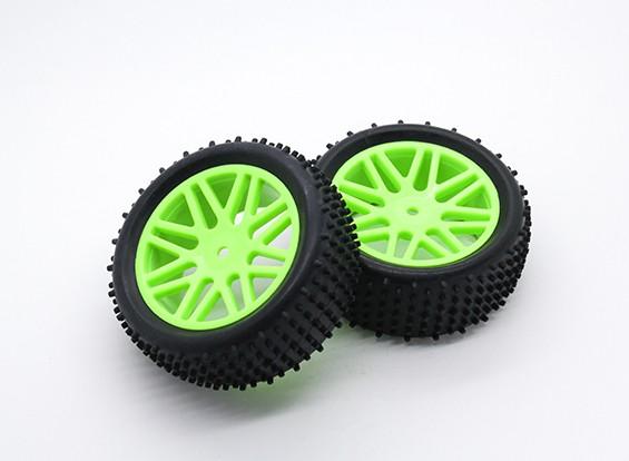 HobbyKing 1/10 Aerator Y-Spoke (Green) Wheel/Tire 12mm Hex (2pcs/Bag)
