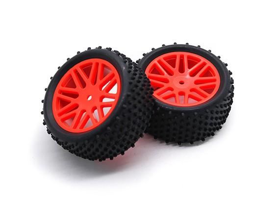 HobbyKing 1/10 Aerator Y-Spoke Rear (Red) Wheel/Tire 12mm Hex (2pcs/Bag)