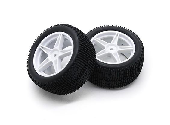 HobbyKing 1/10 Gekkota 5-Spoke Rear (White) Wheel/Tire 12mm Hex (2pcs/Bag)