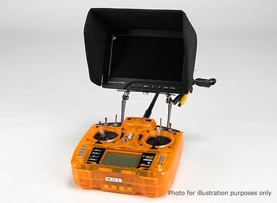 Universal Carbon FPV Monitor To Transmitter Mount System