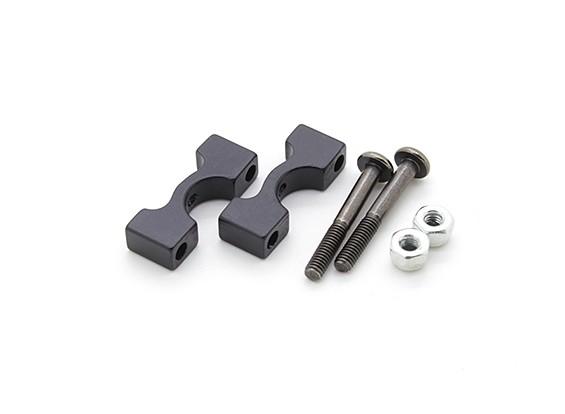 Black Anodized CNC Aluminum Tube Clamp 8mm Diameter