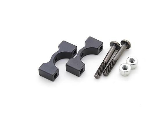 Black Anodized CNC Aluminum Tube Clamp 10mm Diameter