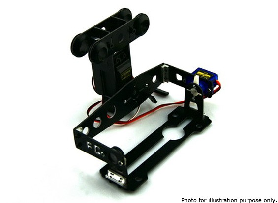 General Use FPV and Camera 2 Axis Servo Gimbal FC-T12