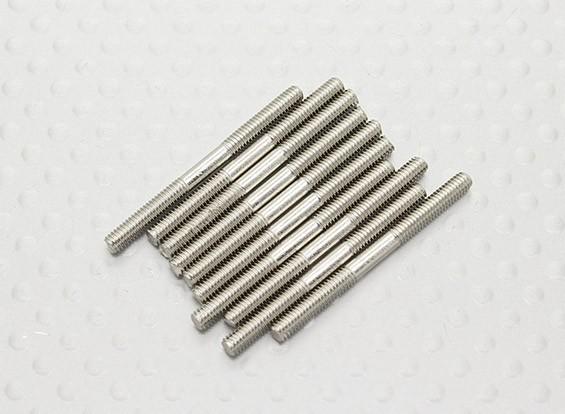 M2.5 x 30mm Steel Push Rod (10pc)