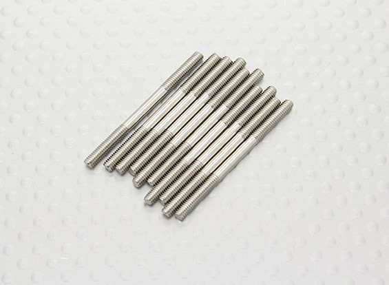 M2.5 x 35mm Steel Push Rod (10pc)