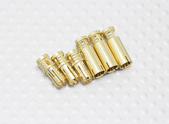 4mm RCPROPLUS Supra X Gold Bullet Connectors  (3 pairs)