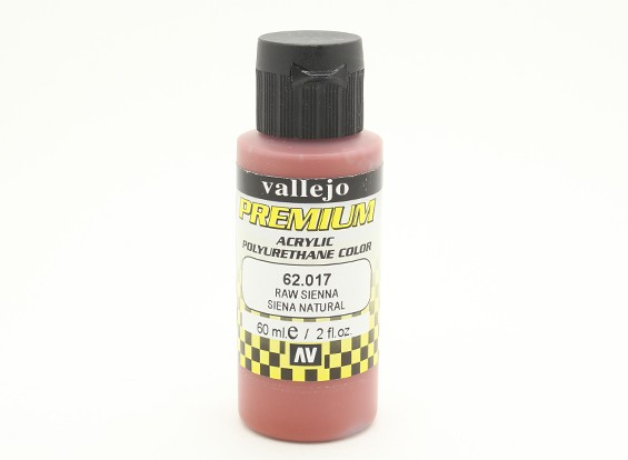 Vallejo Premium Color Acrylic Paint - Raw Sienna (60ml) 62.017
