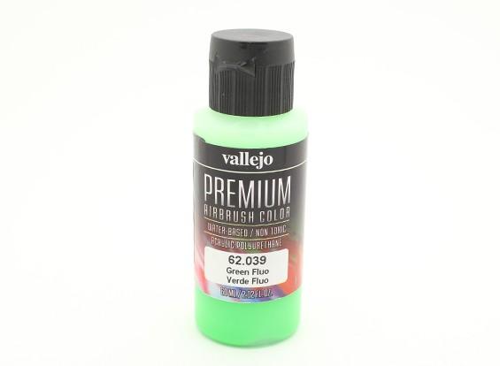 Vallejo Premium Color Acrylic Paint - Green Fluo (60ml) 62.039