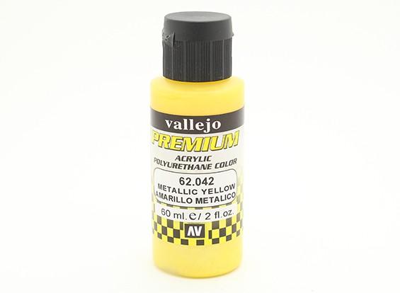 Vallejo Premium Color Acrylic Paint - Metallic Yellow (60ml) 62.042