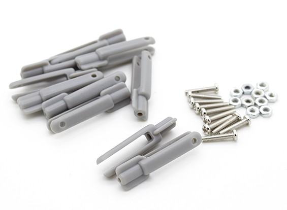 POM Clevis with 2mm Bolt (Grey) 10pc