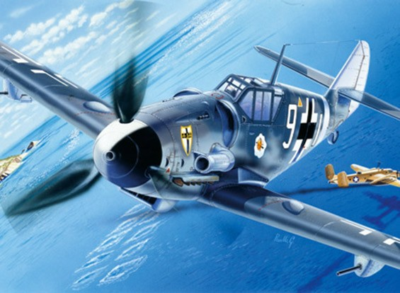 Italeri 1/72 Scale Messerschmitt BF-109 G-6 Plastic Model Kit