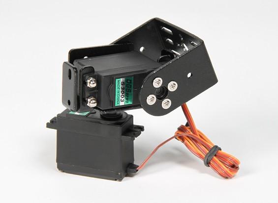 Heavy Duty Pan and Tilt Base Kit with 160deg Servos Robotic Limb or Antenna Tracking (Short Arm)