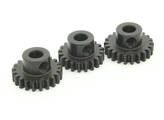 Hardened Steel Pinion Gear Set 32P To Fit 5mm Shaft (20/21/22T)