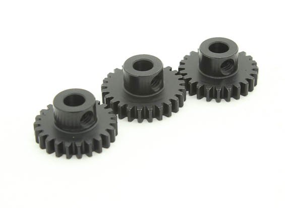 Hardened Steel Pinion Gear Set 32P To Fit 5mm Shaft (23/24/25T)