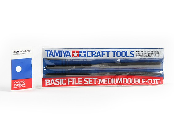 Tamiya Basic File Set - Medium Double-Cut (3pc)