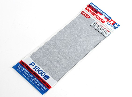 Tamiya Finishing Wet/Dry Sandpaper P1500 Grade (3pc)