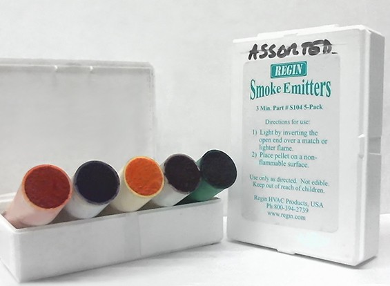 3 Minute Assorted Color Smoke Cartridges (5pcs)