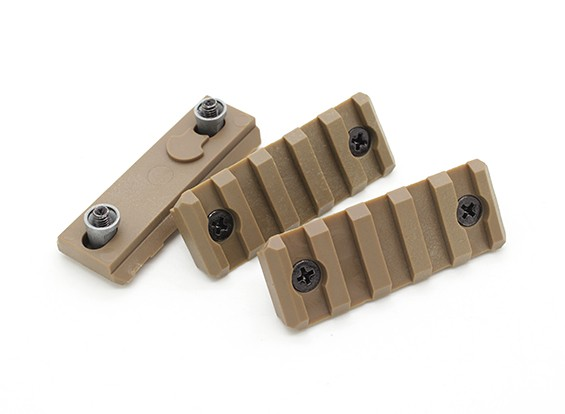Dytac 5-Slot rail section for KeyMod system (Dark Earth, Polymer, 3pcs/bag)