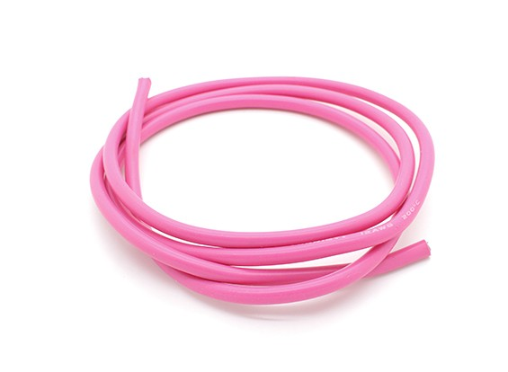 Turnigy Pure-Silicone Wire 12AWG 1m (Pink)