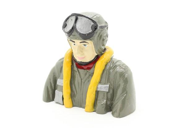 WWII German Pilot (H78 x W84 x D42mm)