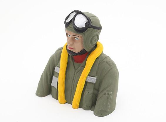 WWII German Pilot (H93 x W88 x D50mm)