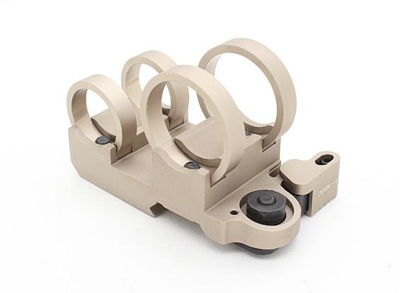 Element EX302 LR Tactical Double Stack Flashlight Mount (TAN)