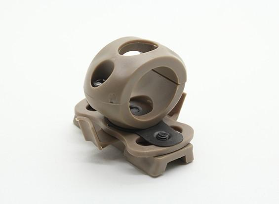 FMA 20mm Flashlight mount for Railed Helmet (Dark Earth)