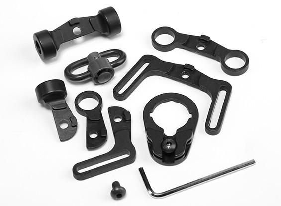 Element EX246 Multi Function Sling Swivel kit for M4 AEG (Black)
