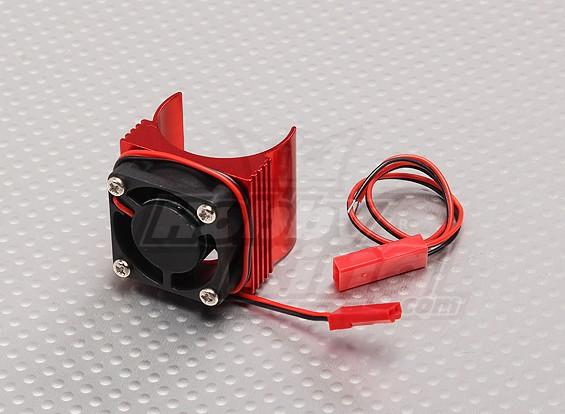 Motor Heat Sink w/Fan Red Aluminum (27mm)