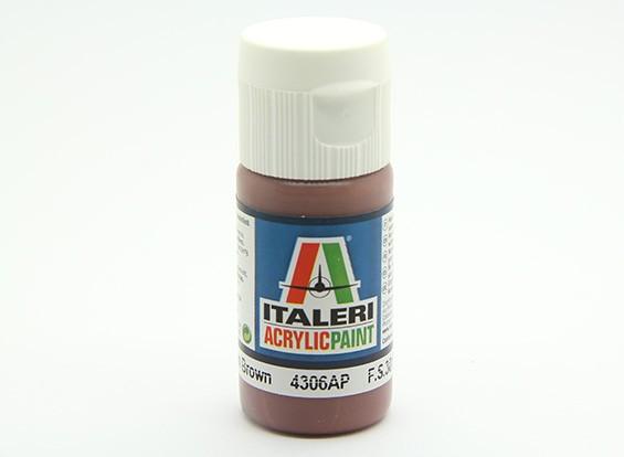 Italeri Acrylic Paint - Flat Medium Brown (4306AP)