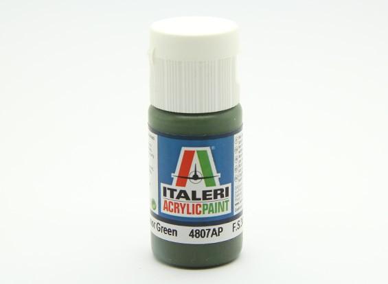 Italeri Acrylic Paint - Flat Russian Armor Green (4807AP)