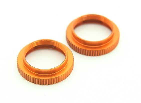 XRAY T4 2014 1/10 Touring Car - Aluminum Shock Adjustable Nut - Orange (2) – T4