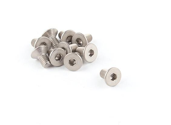 Titanium M4 x 8 Countersunk Hex Screw (10pcs/bag)