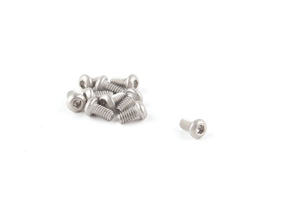 Titanium M2 x 4 Button Head Hex Screw (10pcs/bag)