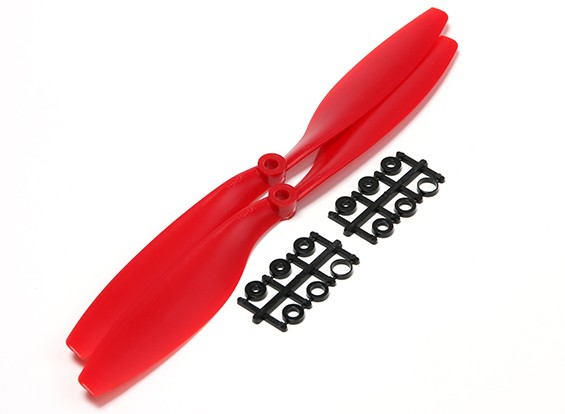 Turnigy Slowfly Propeller 10x4.5 Red (CW) (2pcs)