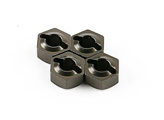Titanium Wheel Hubs (4pcs) - Basher 1/16 Mini Nitro Circus MT