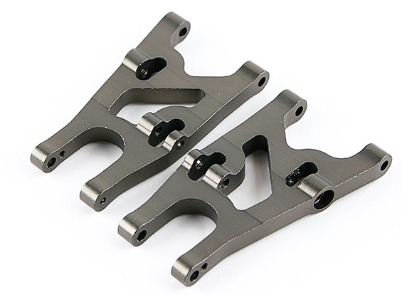 Titanium Front Lower Susp. Arm L/R - 1/16 Turnigy 4WD Nitro-T Truggy Parts