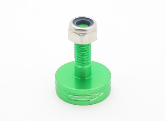 CNC Aluminum M6 Quick Release Self-Tightening Prop Adapter - Green (Prop Side) (Clockwise)