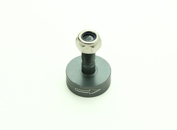 CNC Aluminum M6 Quick Release Self-Tightening Prop Adapter - Titanium (Prop Side) (Clockwise)