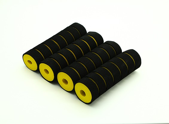 Multi-Rotor Shock Absorbing Foam Skid Collars Yellow/Black (110x32x10mm) (4pcs)