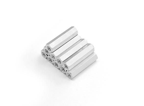 Lightweight Aluminum Hex Section Spacer M3 x 20mm (10pcs/set)