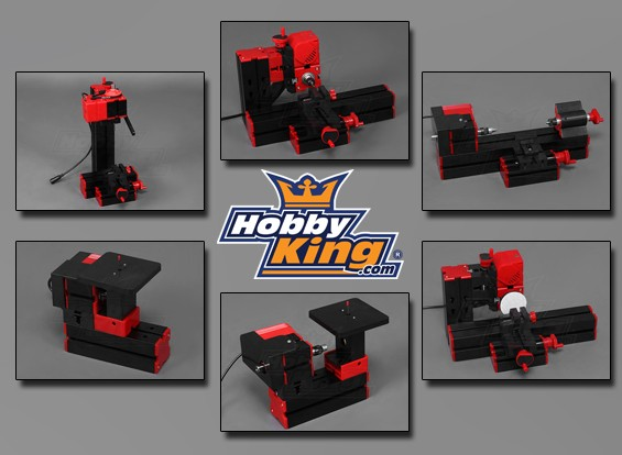 Hobbyking 6 in 1 Machine Tool - Sanding/Turning/Sawing/Wood Turning/Drilling/Milling