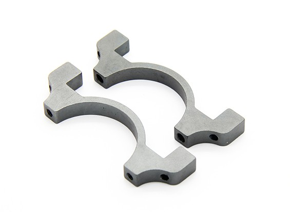 Grey Anodized CNC Semicircle Alloy Tube Clamp (incl.screws) 30mm