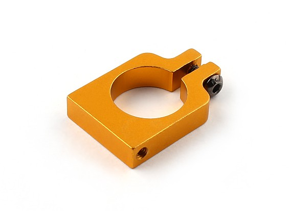 Gold Anodized Single Sided CNC Aluminum Tube Clamp 16mm Diameter