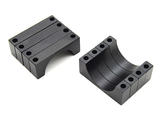 Black Anodized CNC 6mm Aluminum Tube Clamp 20mm Diameter