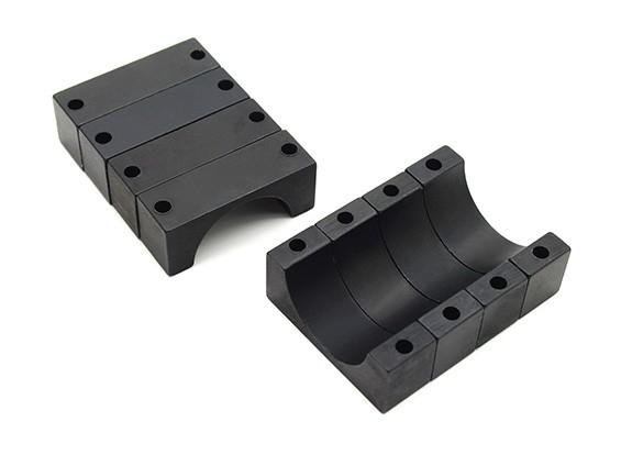 Black Anodized CNC 10mm Aluminum Tube Clamp 20mm Diameter