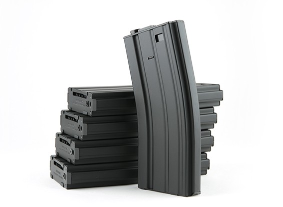 King Arms 300 rounds wind-up metal magazines for M4/M16 AEG (black, 5pcs/ box)