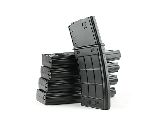 King Arms 130rounds TangoDown style magazines for M4 AEG(Black, 5pcs/box)